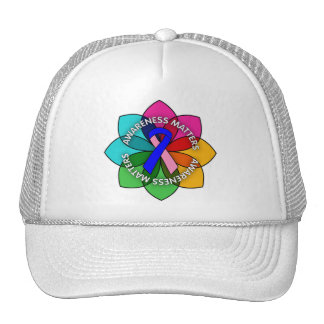 Male Breast Cancer Awareness Matters Petals Trucker Hat