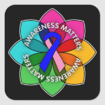 Male Breast Cancer Awareness Matters Petals Stickers