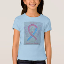 Male Breast Cancer Awareness Ribbon Angel Shirt