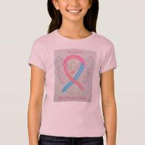 Male Breast Cancer Awareness Ribbon Angel Shirt
