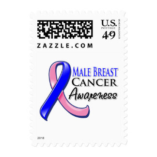 Male Breast Cancer Awareness Ribbon Postage