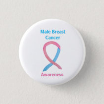 Male Breast Cancer Blue and Pink Custom Pins