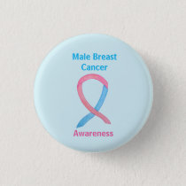 Male Breast Cancer Blue and Pink Customized Pins