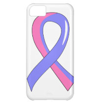 Male Breast Cancer Blue Pink Ribbon 3 Cover For iPhone 5C