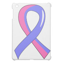 Male Breast Cancer Blue Pink Ribbon 3 iPad Mini Cases