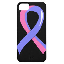 Male Breast Cancer Blue Pink Ribbon 3 iPhone SE/5/5s Case