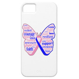 Male Breast Cancer Butterfly Collage of Words iPhone 5 Cover