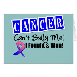 Male Breast Cancer Can't Bully Me...I Fought I Won Greeting Card