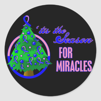 Male Breast Cancer Christmas Miracles Stickers