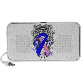 Male Breast Cancer - Cool Support Awareness Slogan Mini Speaker