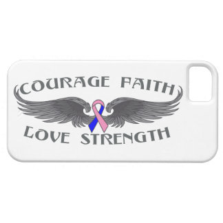 Male Breast Cancer Courage Faith Wings iPhone 5 Case