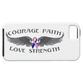 Male Breast Cancer Courage Faith Wings iPhone 5 Cover