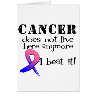 Male Breast Cancer Does Not Live Here Anymore Greeting Card