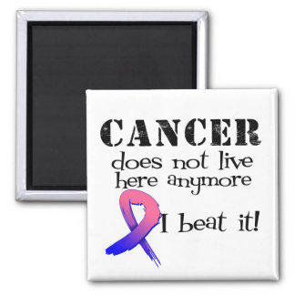 Male Breast Cancer Does Not Live Here Anymore Fridge Magnet