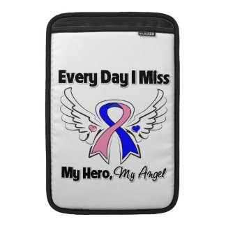 Male Breast Cancer Every Day I Miss My Hero MacBook Sleeves