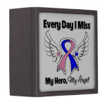 Male Breast Cancer Every Day I Miss My Hero Jewelry Box