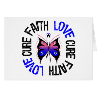 Male Breast Cancer Faith Love Cure Greeting Card
