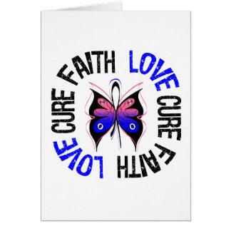 Male Breast Cancer Faith Love Cure Greeting Card