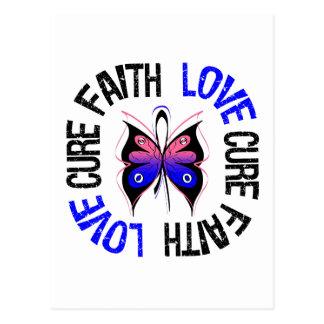 Male Breast Cancer Faith Love Cure Postcard