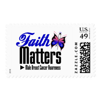 Male Breast Cancer FAITH MATTERS Stamp