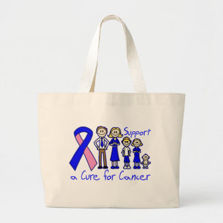 Male Breast Cancer Family Support A Cure Tote Bag