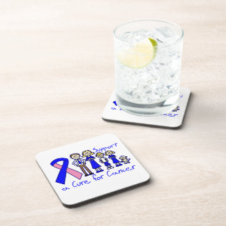 Male Breast Cancer Family Support A Cure Beverage Coasters