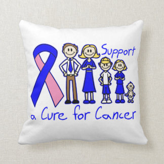 Male Breast Cancer Family Support A Cure Throw Pillows