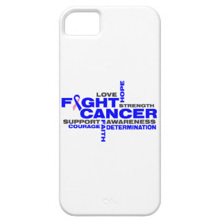 Male Breast Cancer Fight Collage iPhone 5 Cover