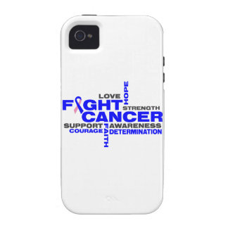 Male Breast Cancer Fight Collage iPhone 4/4S Covers