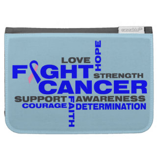 Male Breast Cancer Fight Collage Kindle Cases