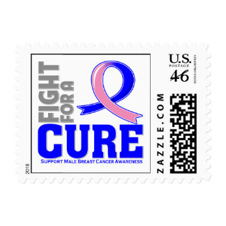 Male Breast Cancer Fight For A Cure Postage