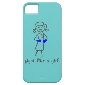 Male Breast Cancer Fight Like A Girl (Retro) iPhone 5 Cover