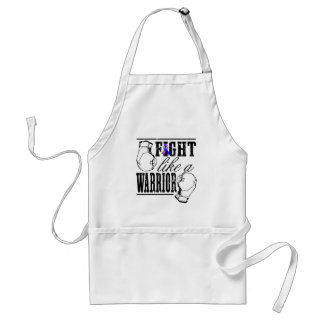 Male Breast Cancer Fight Like a Warrior Adult Apron