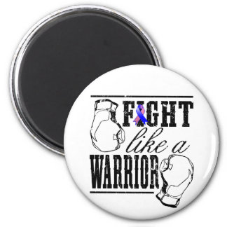 Male Breast Cancer Fight Like a Warrior 2 Inch Round Magnet