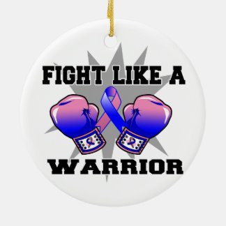 Male Breast Cancer Fight Like a Warrior Ornaments