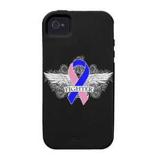 Male Breast Cancer Fighter Wings iPhone 4 Cases