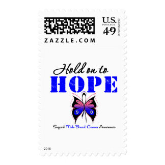 Male Breast Cancer Hold On to Hope Stamp
