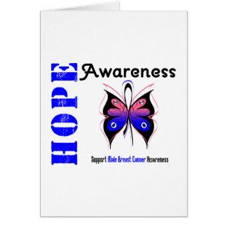 Male Breast Cancer Hope Awareness Card