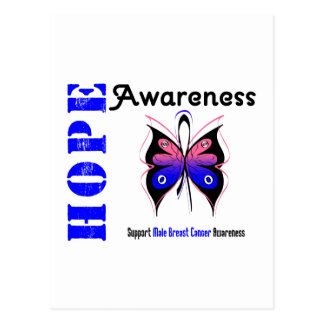 Male Breast Cancer Hope Awareness Postcard