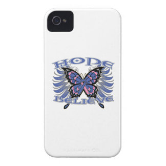 Male Breast Cancer Hope Believe Butterfly Case-Mate iPhone 4 Cases