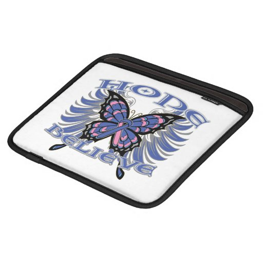 Male Breast Cancer Hope Believe Butterfly Sleeves For iPads