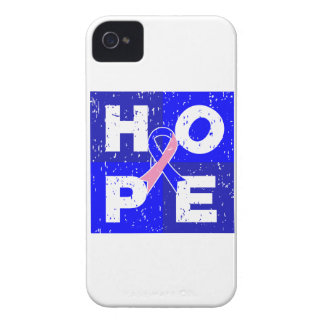 Male Breast Cancer HOPE Cube iPhone 4 Cases