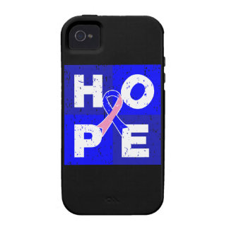 Male Breast Cancer HOPE Cube iPhone 4/4S Covers