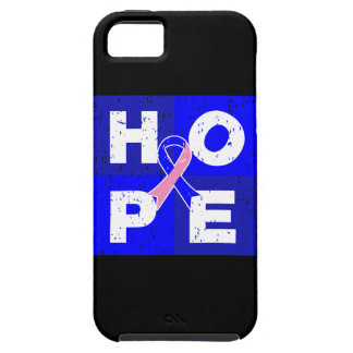 Male Breast Cancer HOPE Cube iPhone 5 Cases