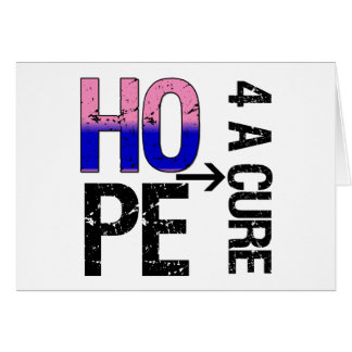 Male Breast Cancer Hope For a Cure Greeting Card