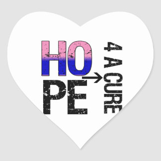 Male Breast Cancer Hope For a Cure Heart Sticker