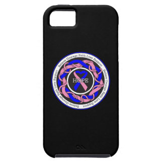 Male Breast Cancer Hope Intertwined Ribbon iPhone 5 Case