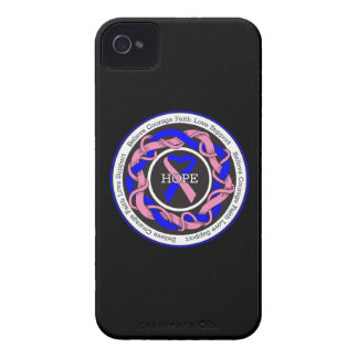 Male Breast Cancer Hope Intertwined Ribbon iPhone 4 Case-Mate Case