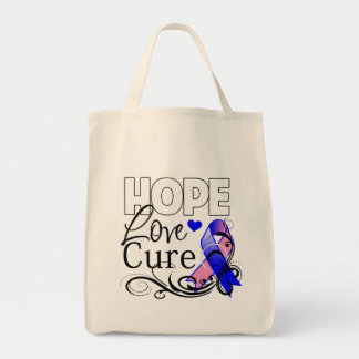 Male Breast Cancer Hope Love Cure Bag