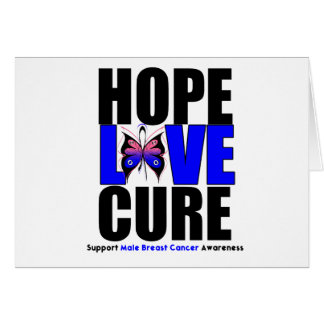 Male Breast Cancer Hope Love Cure Cards